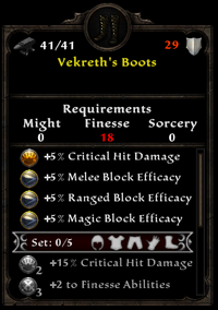 Vekreth's boots