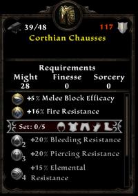 Corthian chausses