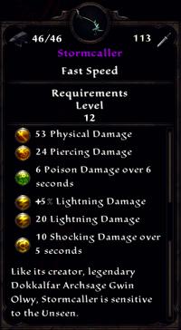 Stormcaller Inventory