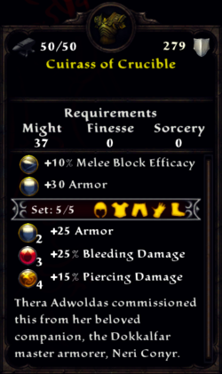 Cuirass of the Crucible Inventory