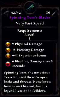Spinning Toms Blades Inventory