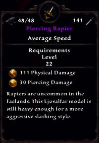 Piercing Rapier Inventory