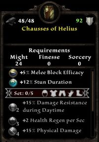 Chaussues of Helius