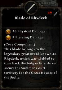 Blade of rhyderk