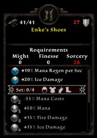 Enke's shoes