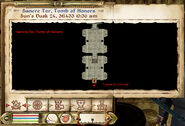 Sancre Tor, Tomb of Honors Map (2)