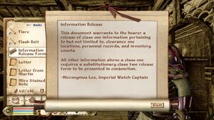 Information Release Form 1