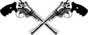 Crossed Revolver by Akasharah