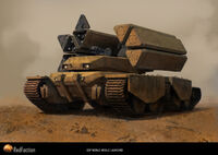 640x453 3122 EDF Mobile Missile Tank 2d sci fi tank picture image digital art