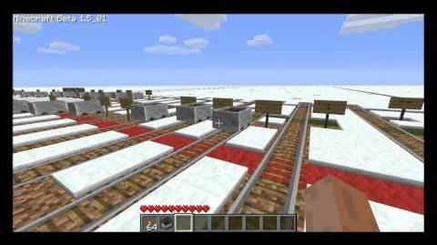 Minecart science with powered rail