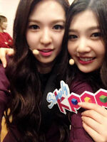 Joy and Wendy on Simply Kpop 2014