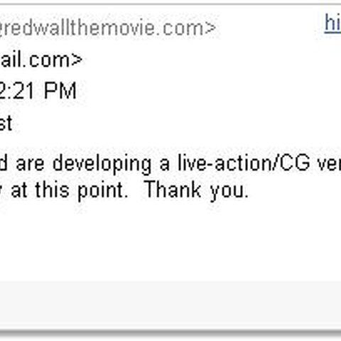 E-mail from Imagen Films, 2008