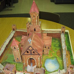 Photo of an assembled Build Your Own Redwall Abbey