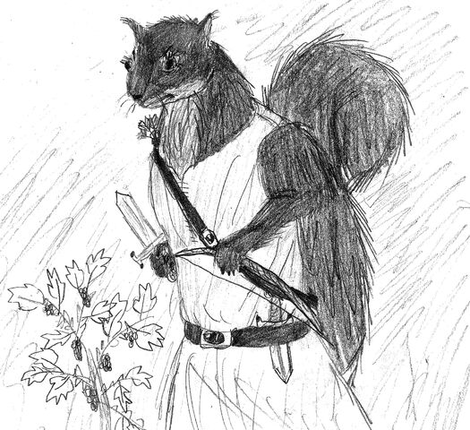 File:Squirrelmaid with blackberry bush.jpg