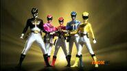 Mega Rangers with Megaforce Blaster
