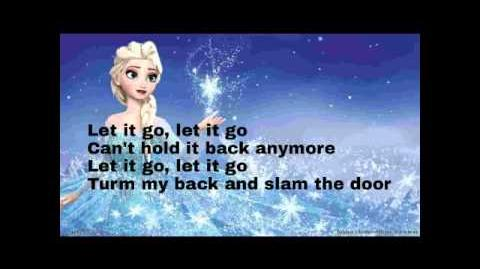 Demi Lovato -let it go frozen lyrics