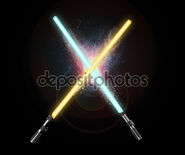 Depositphotos 100322912-Two-light-sabers-crossing-together