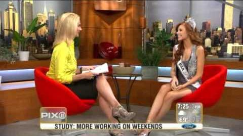 Alyssa Campanella , Miss USA on PIX11 Morning News-0