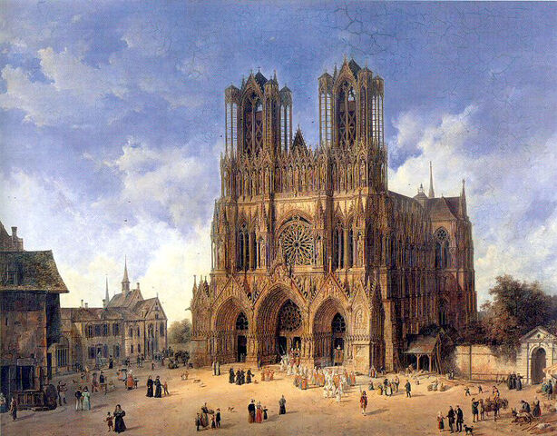 File:Domenico Quaglio (1787 - 1837), Die Kathedrale von Reims.jpg