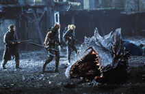 A deleted scene showing the disassembled dead Dragon.