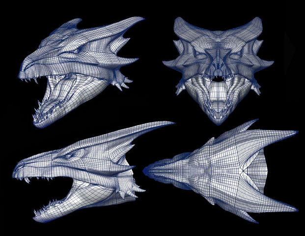 File:Wireframe for the Female Dragon's head..jpg