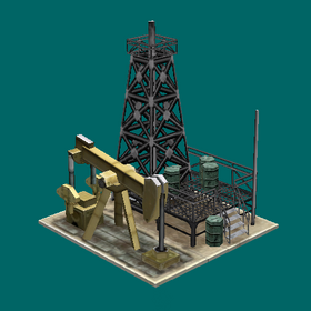 Civilian Oil Derrick