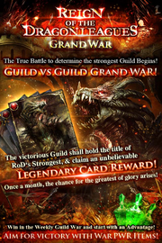 Reign of the Dragon Leagues Grand War Collage Ad