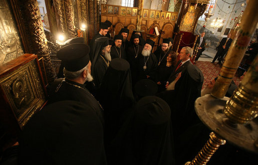 File:Image-Patriarch Theophilos III of Jerusalem and President Bush 2.jpg