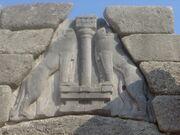 Mycenae lion gate detail dsc06384