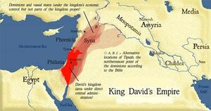 Davids-kingdom with captions specifiying vassal kingdoms-derivative-work