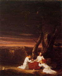 File:Cole Thomas Angels Ministering to Christ in the Wilderness 1843.jpg