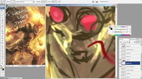 Live Art with Aleksi Briclot Chandra's Phoenix
