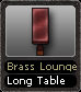 Brass Lounge Long Table