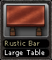 Rustic Bar Large Table