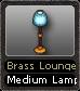Brass Lounge Medium Lamp