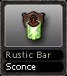 Rustic Bar Sconce