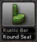 Rustic Bar Round Seat