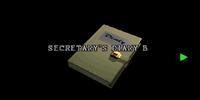 Secretary's diary B