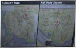 Tall Oaks subway map