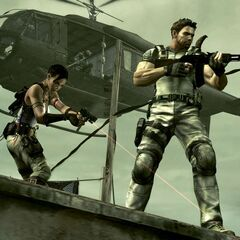 Chris and Sheva being covered by <a href=