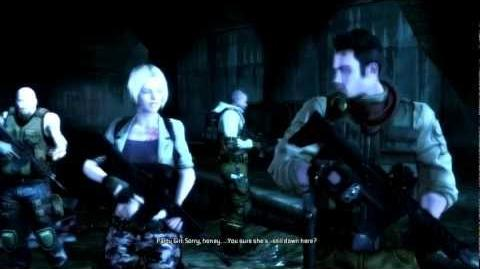 Meeting Claire Redfield (cutscene)