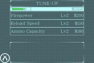 Degeneration game - Tune-Up menu