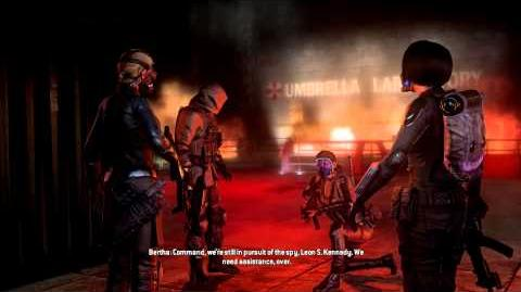 Resident Evil Operation Raccoon City all cutscenes - Sharp Claws (Vector and Bertha)