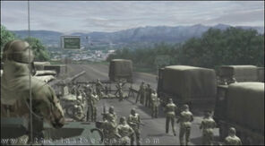 Das Militär sperrt die Zugangswege nach RC ab.