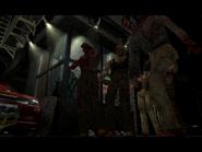 Resident Evil 3 Nemesis screenshot - Uptown - Street along apartment building - Jill Valentine scene 07