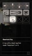 Resident Evil 7 Teaser Beginning Hour Basement Key inventory