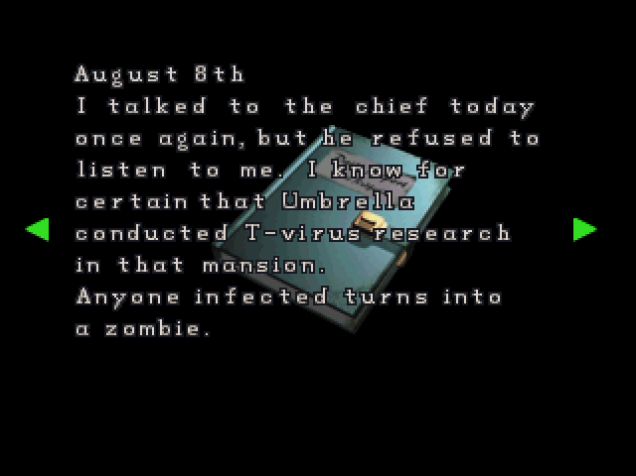 File:RE2 CHRIS's diary 02.png
