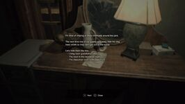 RESIDENT EVIL 7 biohazard Memo About Relief