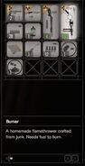RESIDENT EVIL 7 biohazard Burner inventory