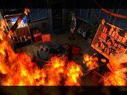Office in fire